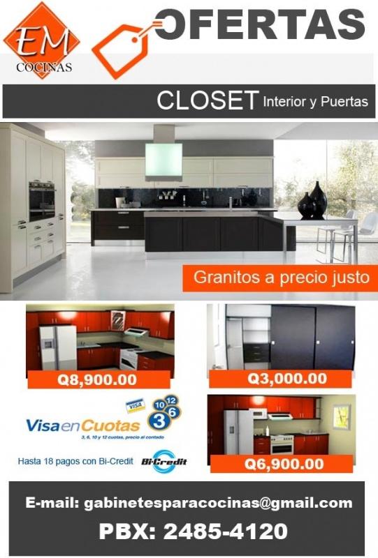 Em cocinas con ofertas en cocinas y closets for Decoracion hogar guatemala